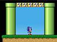 Sonic in Mario World