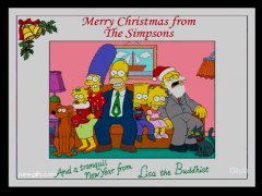 Merry Christmas from the Simpsons