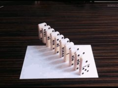Great optical illusion with domino