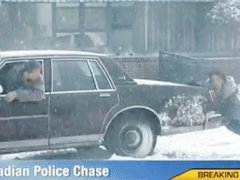Canadian police chase