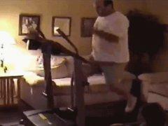 Fat man on a treadmill