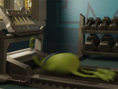 Mike on the treadmill