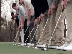 9 Putts Into One Hole