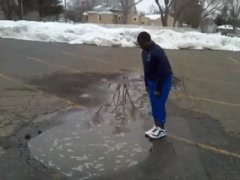 Deep puddle