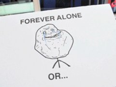 Forever alone hand made card