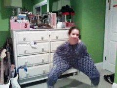Weird girl dancing