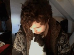 The cat kisses back