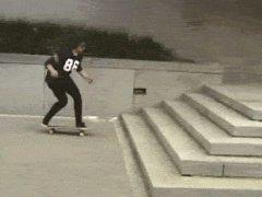 Impressive skateboarding trick