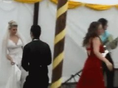 Drunk girl ruins wedding reception