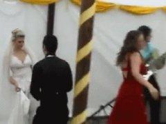 Drunk girl ruins wedding reception