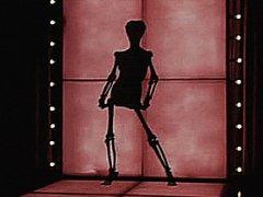 Funny skeleton striptease