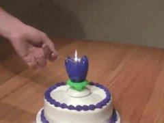 Amazing cake candles