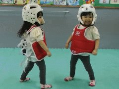 World's cutest taekwondo fight