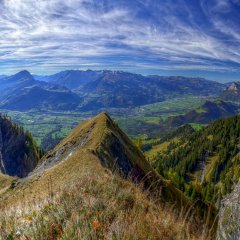 Majestic view over the Rhine valley, Switzerland