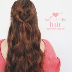 Valentines day heart hair