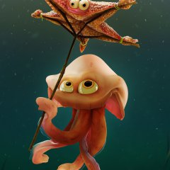 Starfish umbrella, RIGGING DEMO link