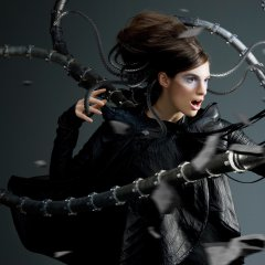 Robot - Octopus  (a real fashion model with 3D FX)