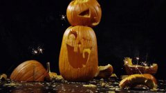 Pumpkins Dropped And Smashed In Super Slow Motion