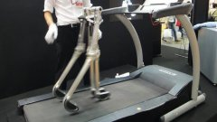 Powerless Robot Walks On Treadmill