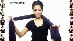 Girl Shows 25 Ways To Wear A Scarf