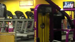 Girl Dances While Walking On Treadmill