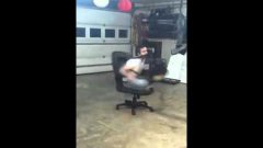 Spinning In A Chair With A Leaf Blower & Spinning In A Chair With A Leaf Blower - video on Dovga