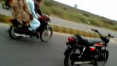 Pakistani Rollerblader Uses Unmanned Motorcycle To Pull Him