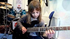 Eight Year Old Plays Stratosphere On Guitar