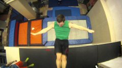 New Extreme Sport: Trampoline Wall