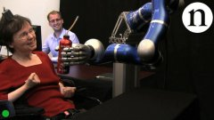 Paralysed woman moves robot with her mind