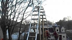 Dad builds backyard rollercoaster for his daughter