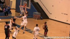 One handed Zach Hodskins is amazing at basketball