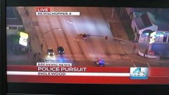 Police chase on TV appears in front of one viewer's home