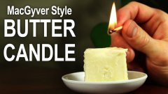How To Make a Butter Candle