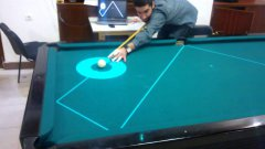 Snooker with projected path light