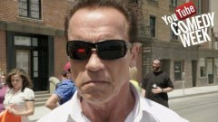 Arnold pumps you up for YouTube Comedy Week