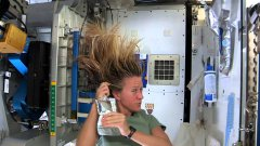 Washing hair on international space station