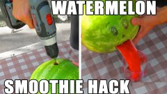 Watermelon smoothie hack in 2 minutes