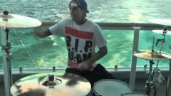 Travis Barker Drumming On Boat