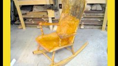 Woodworker builds rocking chair with no powertools
