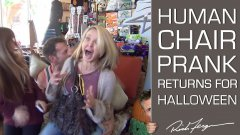 Human chair halloween prank