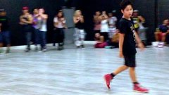 Eleven year old boy dances to 'Applause' by Lady Gaga