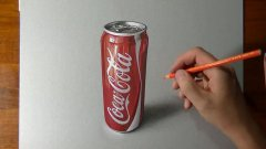 3D drawing of Coca Cola can