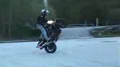 Insane motorcycle drifting