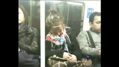 Sleeping an the subway