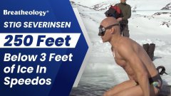 Swimming 250 Feet Below Frozen Lake On One Breath World Record