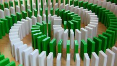 Isane Rube Goldberg Style Domino Tricks