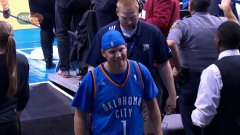 Thunder Fan Hits Halfcourt Shot and Wins $20,000