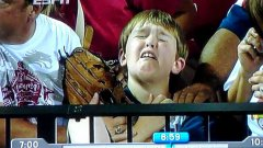 TV Viewer Hilariously Narrates As Boy Is Hit By Home Run Ball