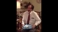 Uncle Henry gets surprised on Christmas